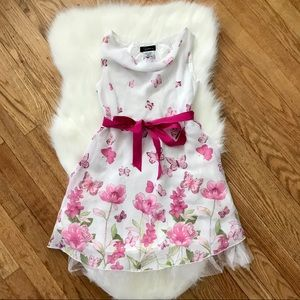 SPEECHLESS Girls Butterfly Flower Ribbon Dress